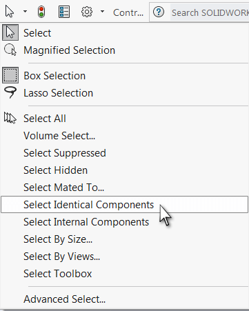 Select Identical Components