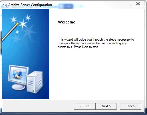 Archive server configuration