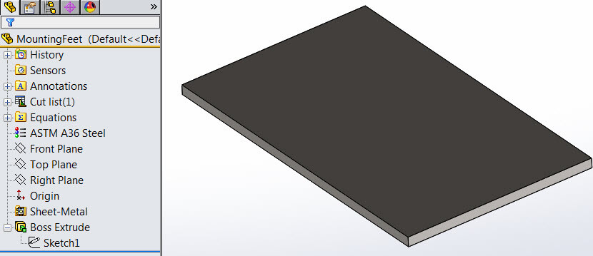 SOLIDWORKS Simulation did not recognize sheet metal part