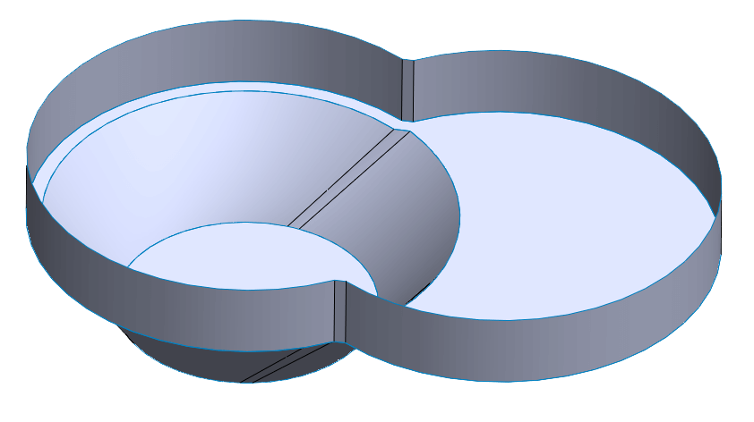 Pool Design - Figure 8 Pool with Safety Ledge