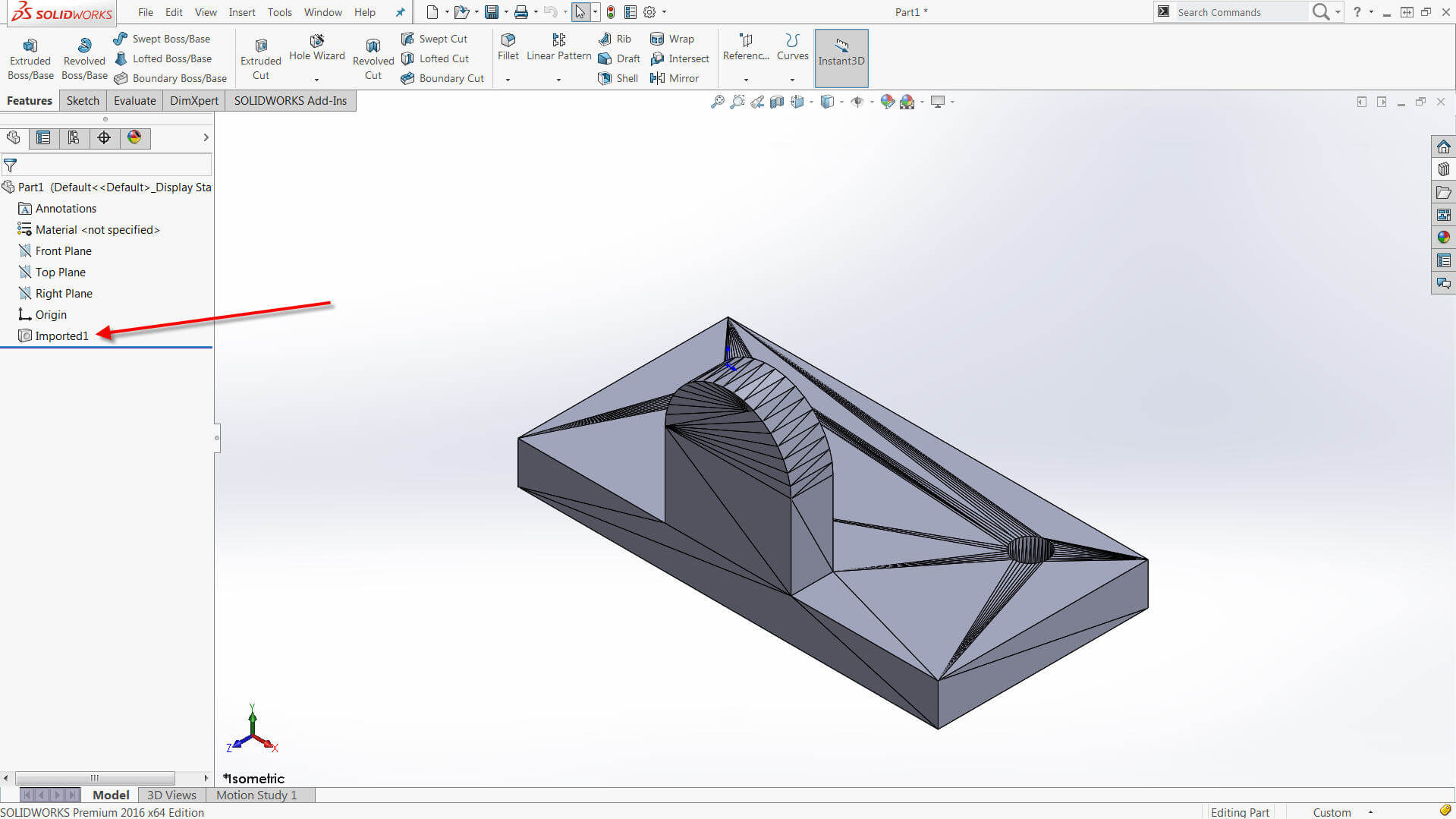 Importing STL files into SOLIDWORKS