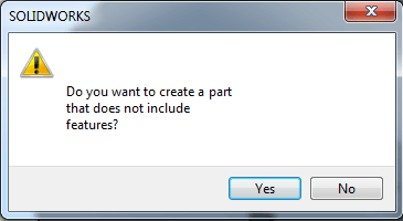 Fictitious SOLIDWORKS message