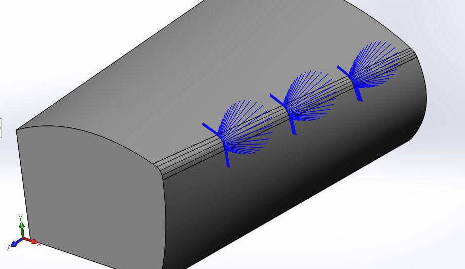 curvature continuous edge fillets with curvature combs