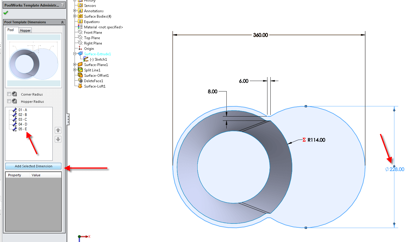 Add Driving Dimensions to your Template