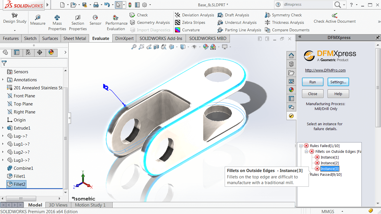 How To Check Solidworks Parts With Dfmxpress