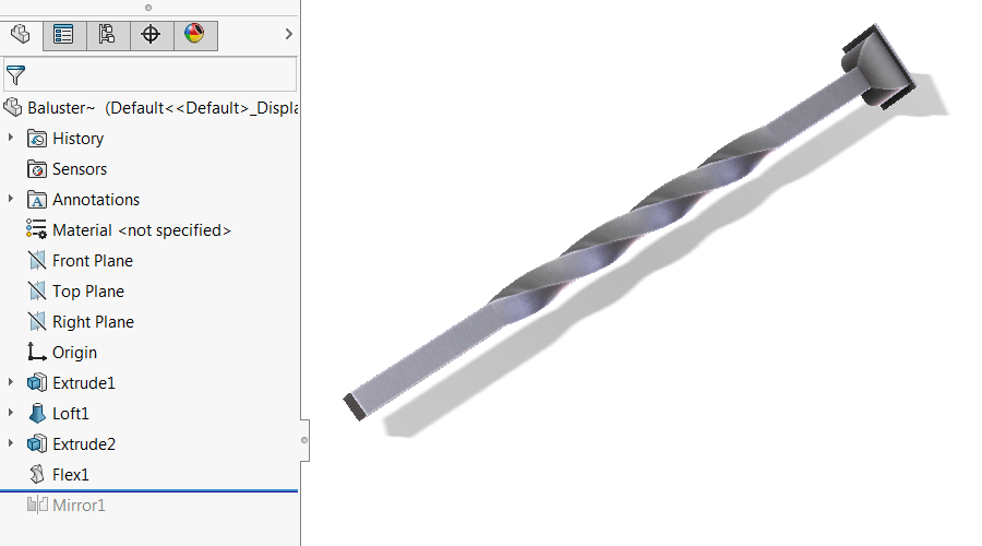 Flex Feature applied to extrusion