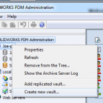How to create a new SOLIDWORKS PDM Vault