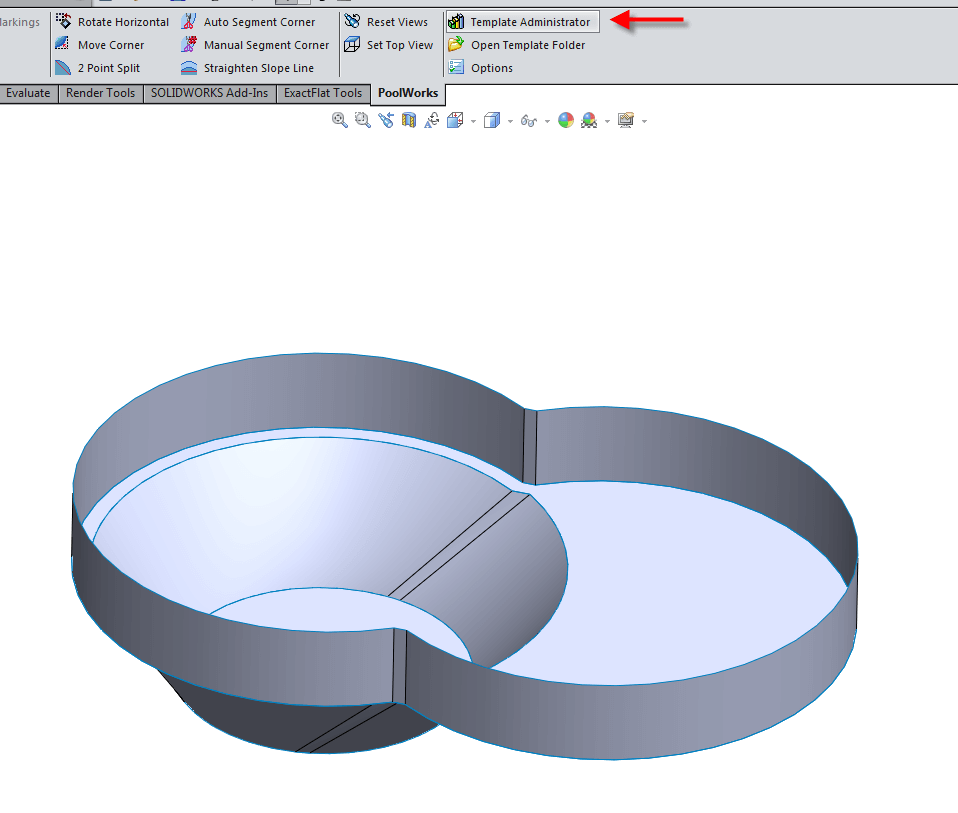 Turning Pool Geometry into a Template