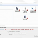 Link the SOLIDWORKS Save As dialog description field to a Custom Property