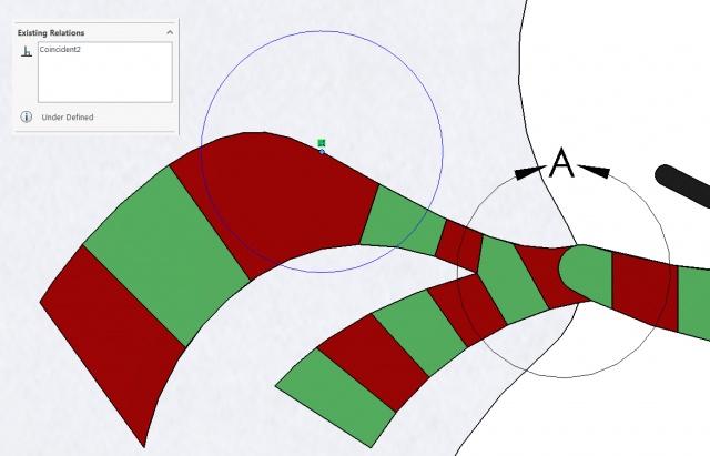 Snowman Detail Circle Sketch