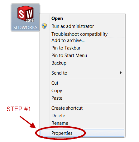 Run SOLIDWORKS with Administrator Permissions