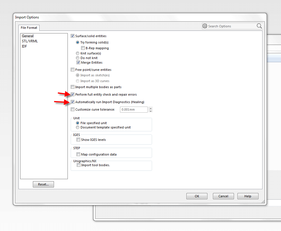 File Format Options