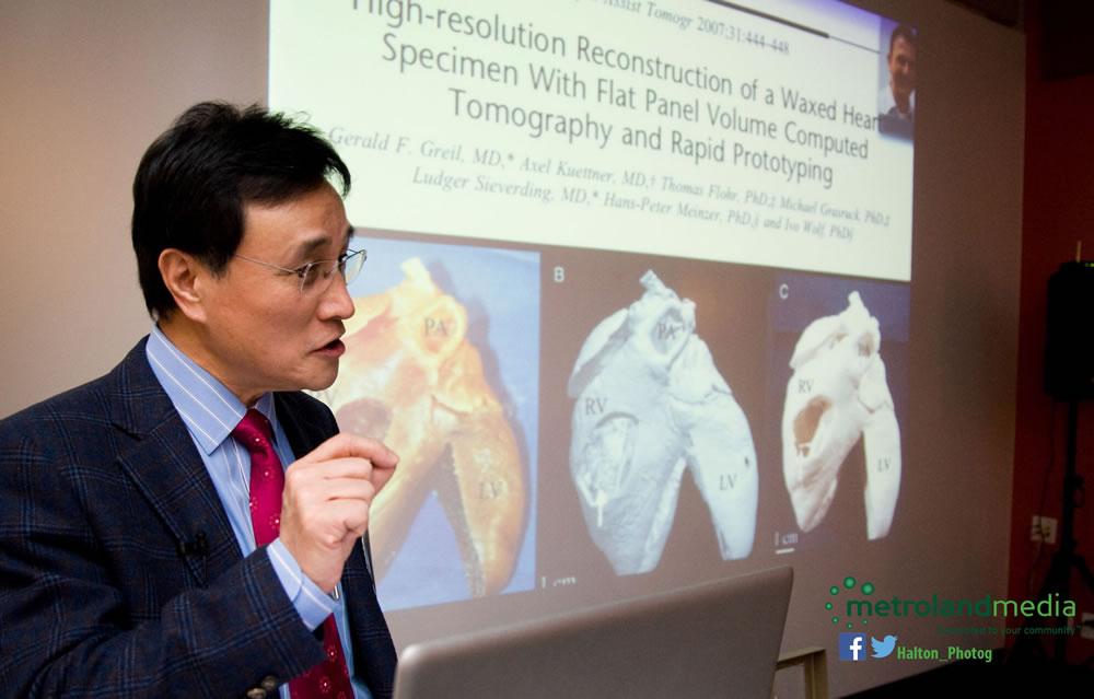 Dr. Yoo presenting