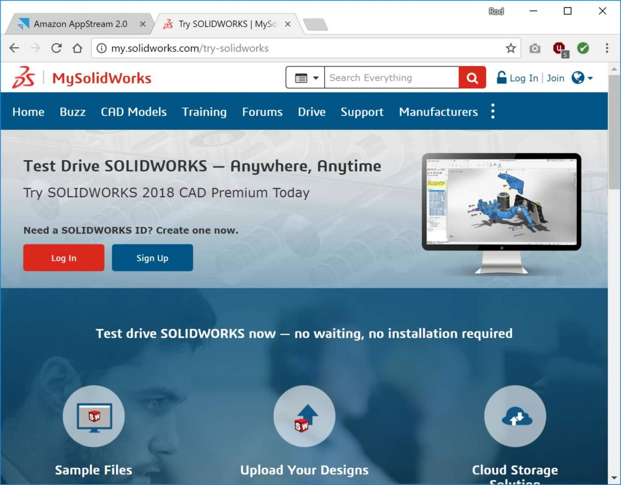 Try SOLIDWORKS