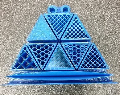Different infill patterns on the Fortus 450mc