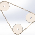 How to use the SOLIDWORKS Belt/Chain Assembly Feature to control a Chain