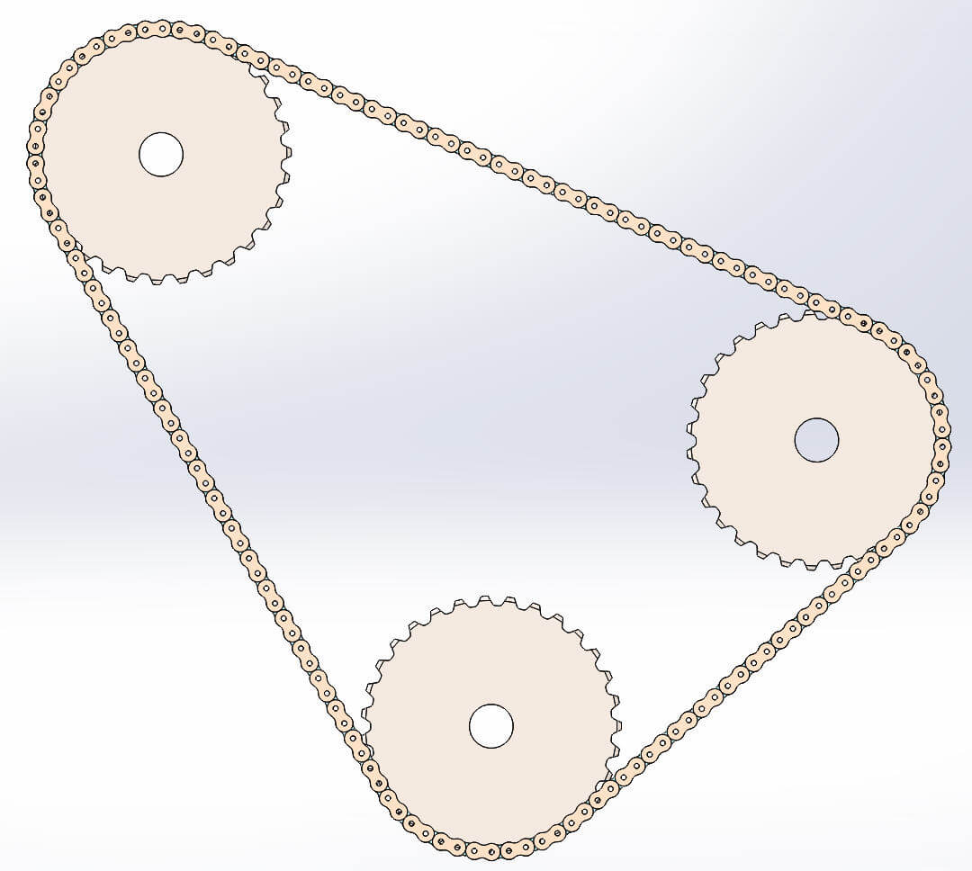 SOLIDWORKS Chain assembly feature