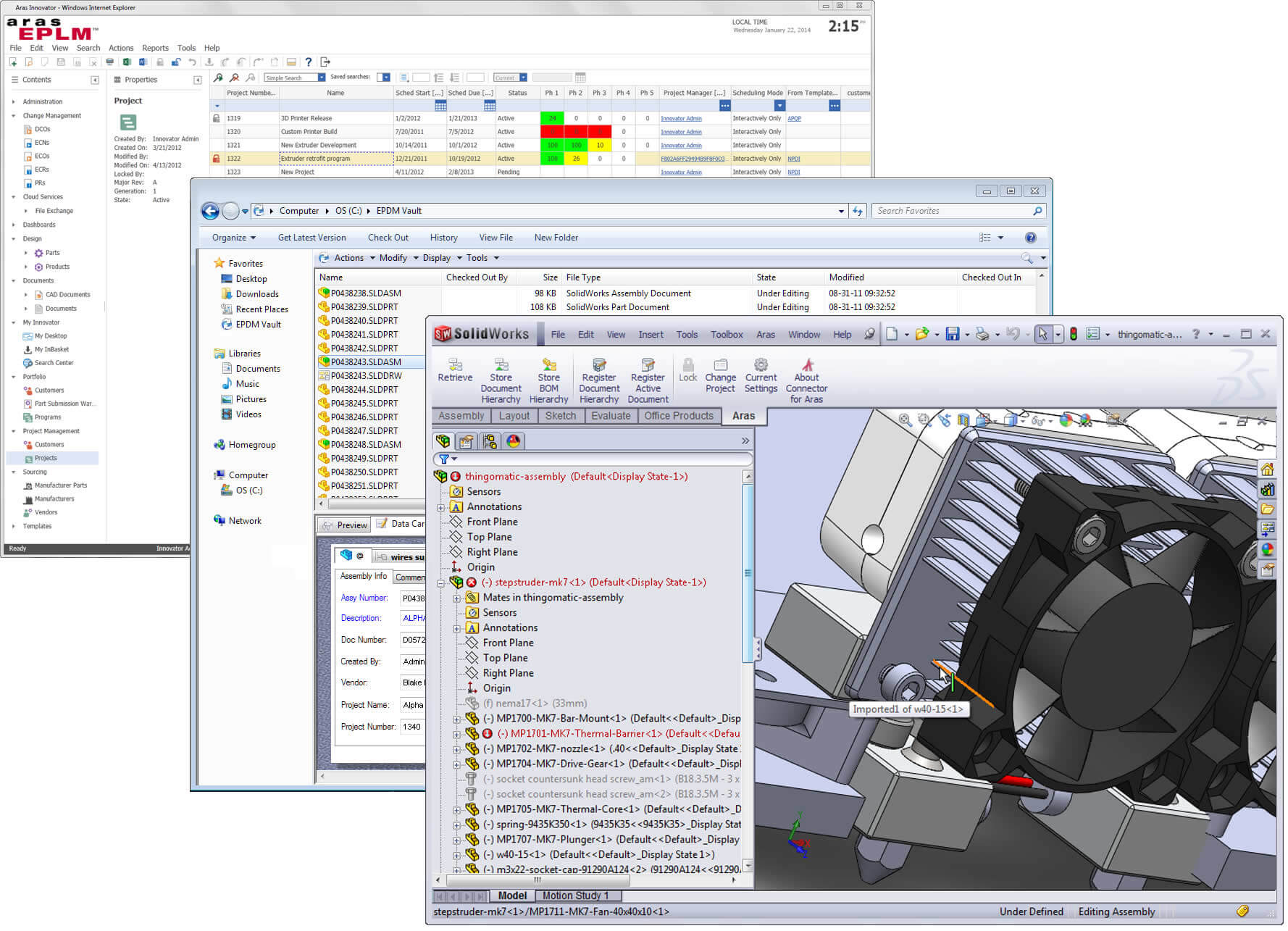 SOLIDWORKS Product Lifecycle Management solution