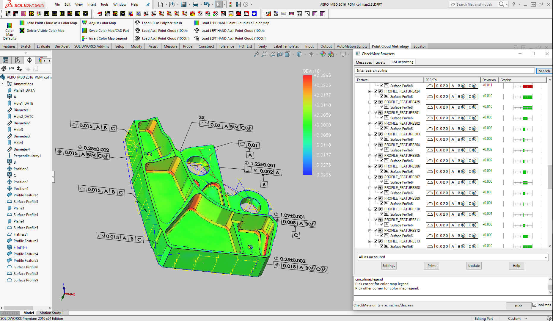 CheckMate for SOLIDWORKS scan data