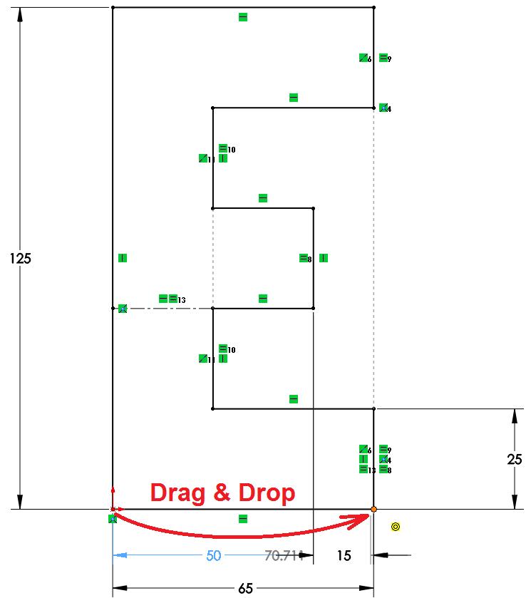 Drag & Drop Dimension Handle