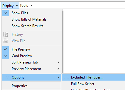 Exclude .cwr file types in SOLIDWORKS PDM