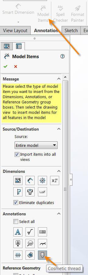 Model Items