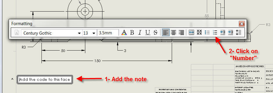 how to link solidworks flag notes to balloons  notes in a