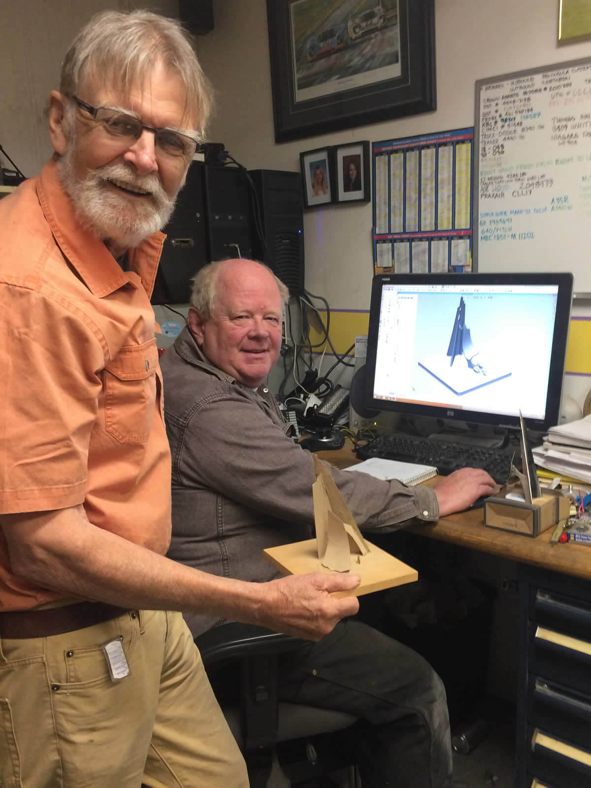 Bill and Tom with their Iceberg model in SOLIDWORKS