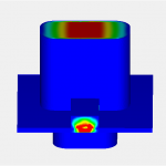 A Transition from CPW to rectangular waveguide simulation using HFWorks for SOLIDWORKS
