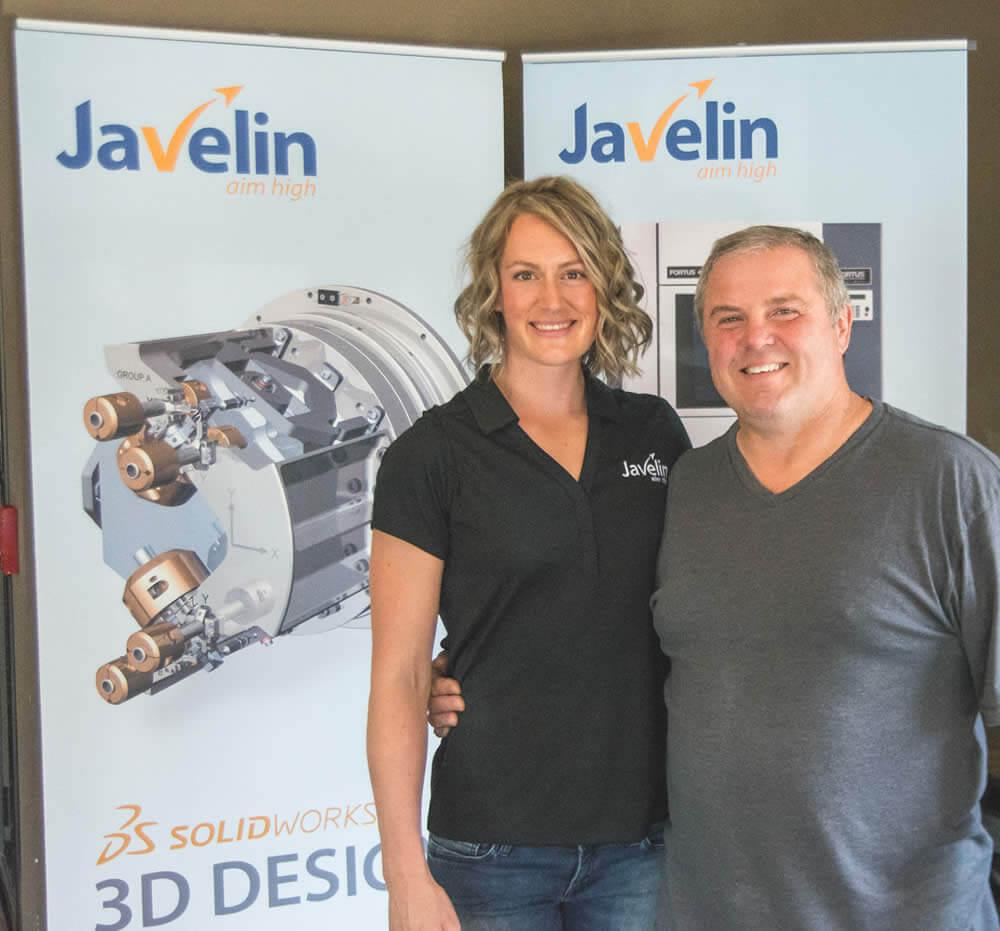 Liz with Tony Spoletini, owner of Spolumbo's Deli