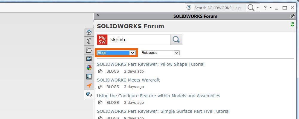 MySolidWorks Blog Results