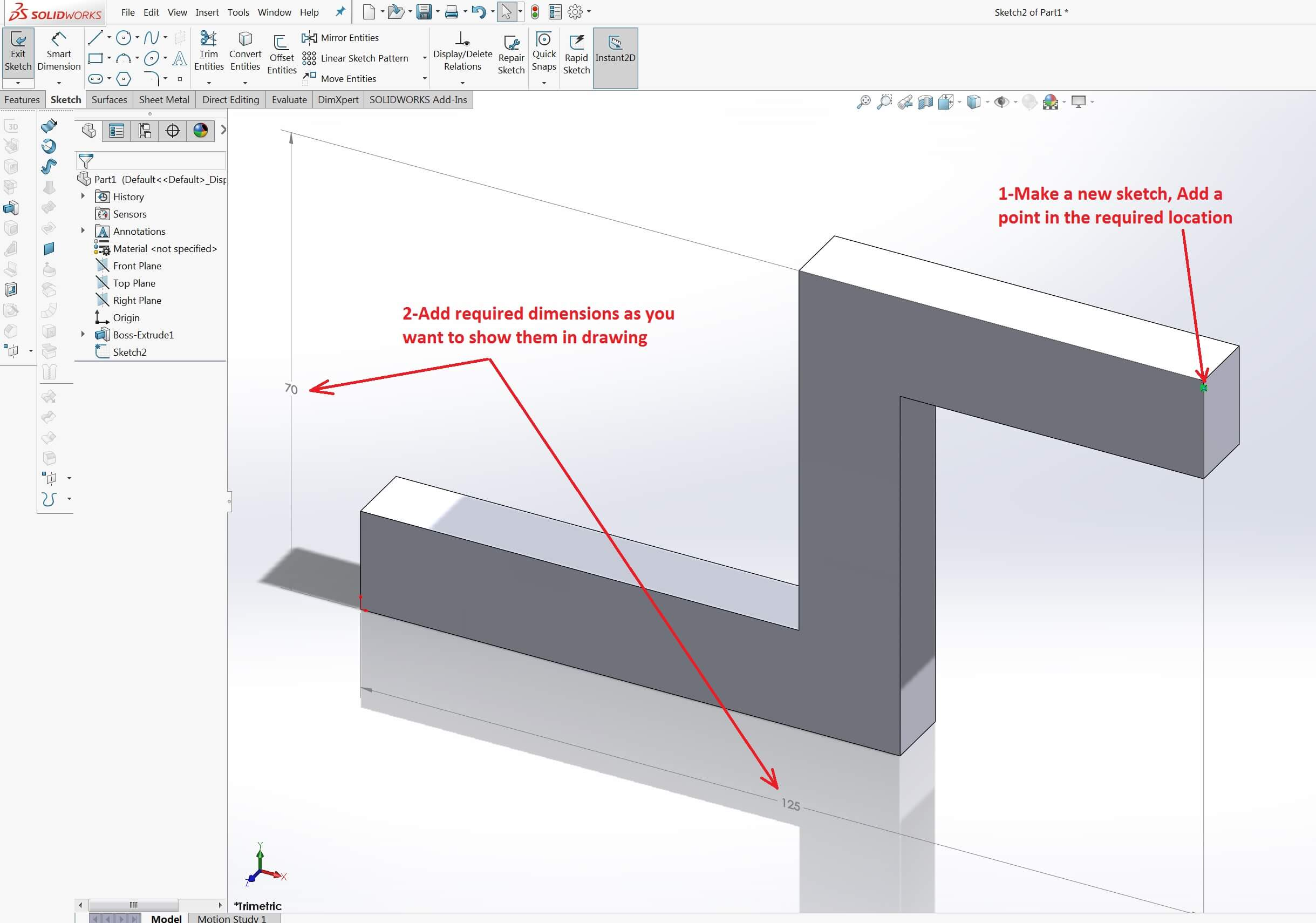 Drawing Lines By Plotting Points : How to label solidworks coordinate points in a drawing view