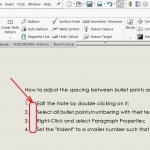 How to manage SOLIDWORKS Drawing Note bullet/number spacing