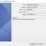 Make sure the SOLIDWORKS PDM Professional Task Add-in gets updated!