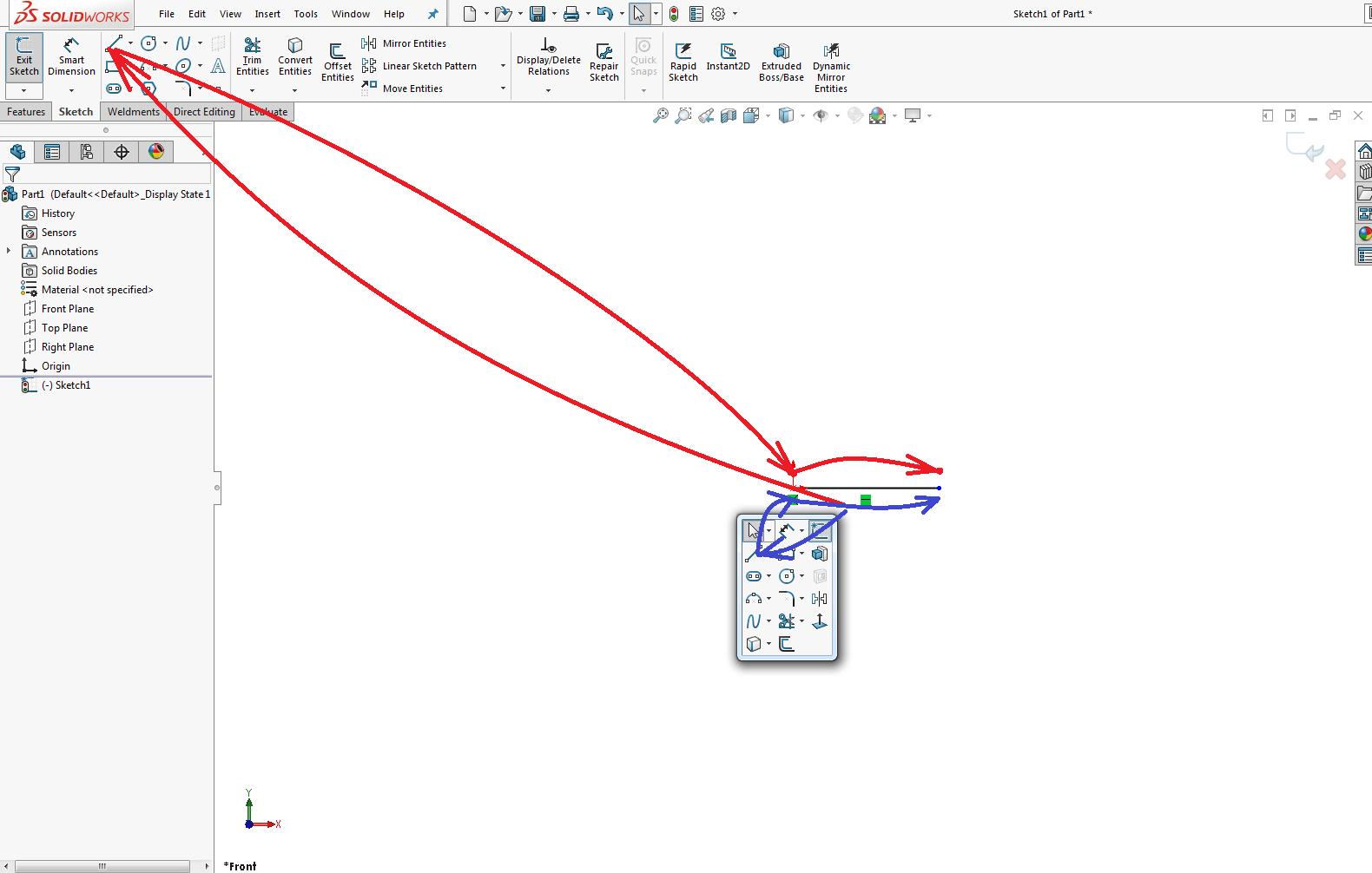 Shortcut Bar usage example
