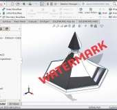 SOLIDWORKS Part Assembly Watermark