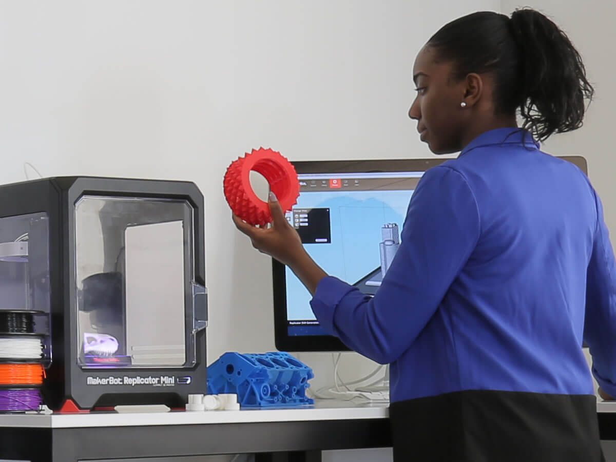 MakerBot 3D Printer in use