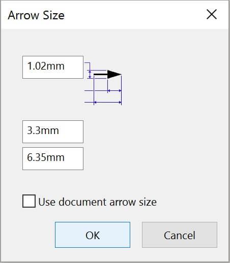 Adjust Arrow Size