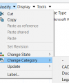 SOLIDWORKS PDM change file category
