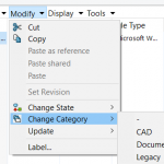 SOLIDWORKS PDM 2017 Change File Category