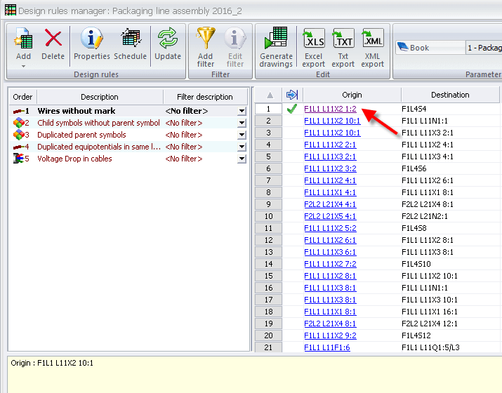 SOLIDWORKS Electrical Design Rule check