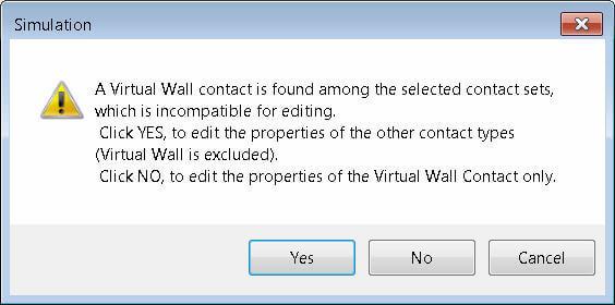 Warning for Virtual Wall selection