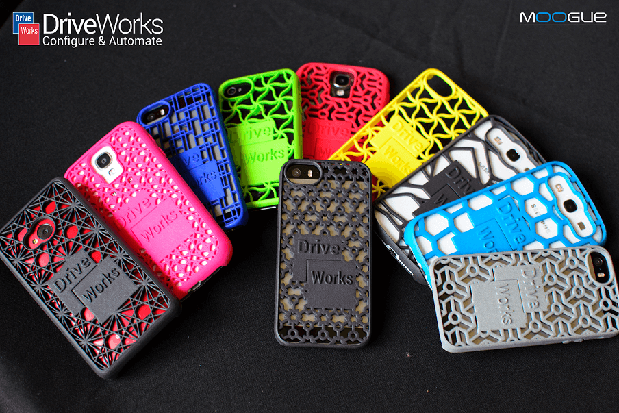 DriveWorks 3D Printed Phone Cases