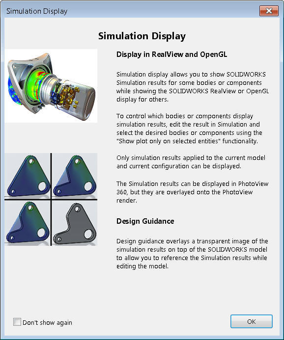 Simulation Display Pop-up