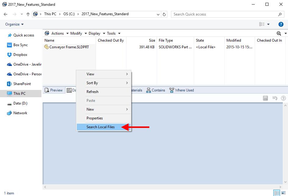 Znalezione obrazy dla zapytania search for local files pdm