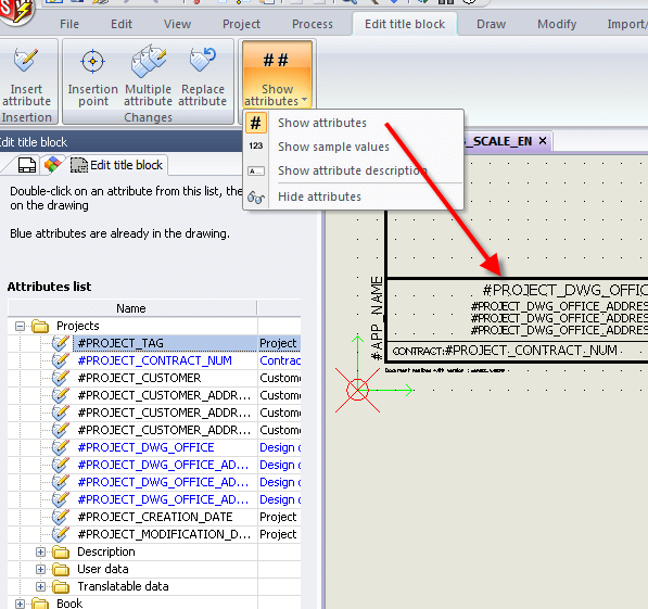 SOLIDWORKS Electrical Attribute in default view