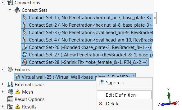 Virtual wall type selected