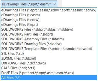 eDrawings 206 Open File List