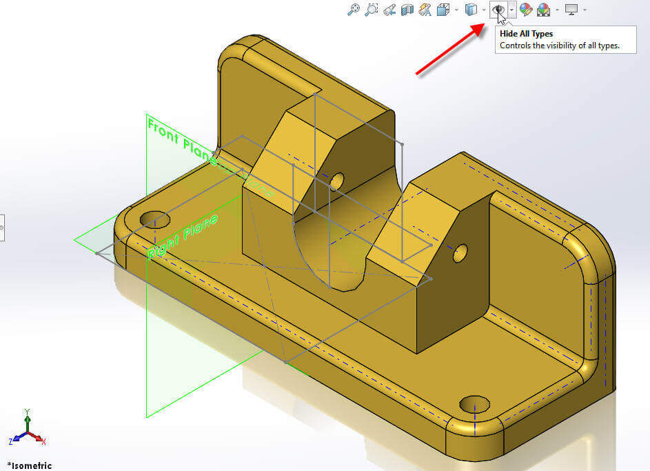 SOLIDWORKS 2017 Hide All Types