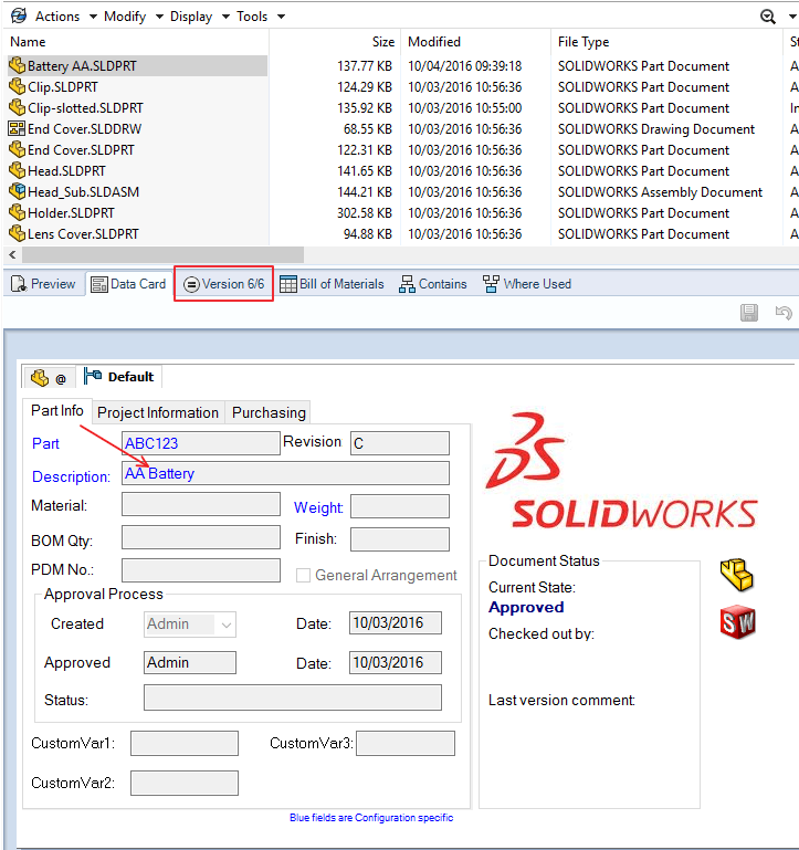 SOLIDWORKS PDM Latest Version Overwrite - Complete